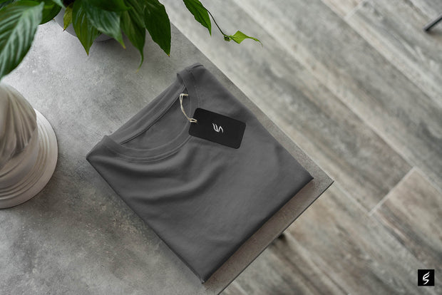 Smoky grey round neck somefits T-shirt