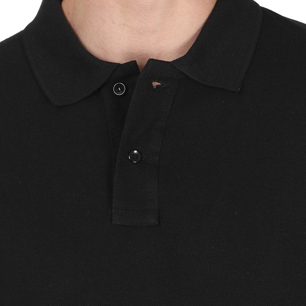 Black Solid Polo
