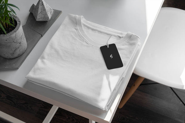 White Round Neck T-shirt | Somefits