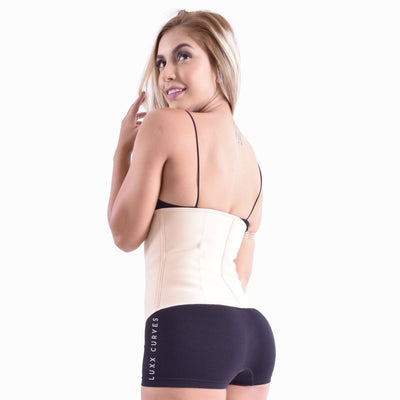 Short Torso Waist Trainer 9″ Traditional Waist Trainer LuxxHealth Roses 3XS
