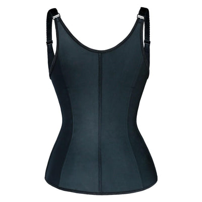 Latex Zipper + Clasp Vest Full Back Vest Trainers LuxxHealth