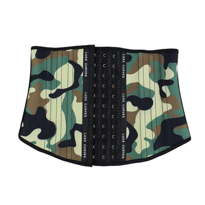 Short Torso Waist Trainer 9″ - Patterns Traditional Waist Trainer LuxxHealth Army 3XS