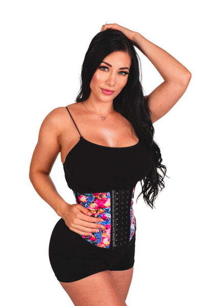 Short Torso Waist Trainer 9″ - Pattern Colors Traditional Waist Trainer LuxxHealth