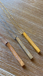 Own Your Magic Bar Necklace