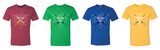 Red, green, blue, yellow  Wizard Run shirt