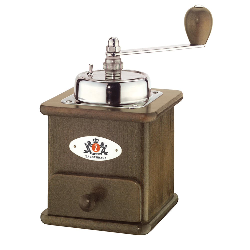 "Zassenhaus Coffee Mill ""Brasilia"" 20cm Beech Dark Stained"