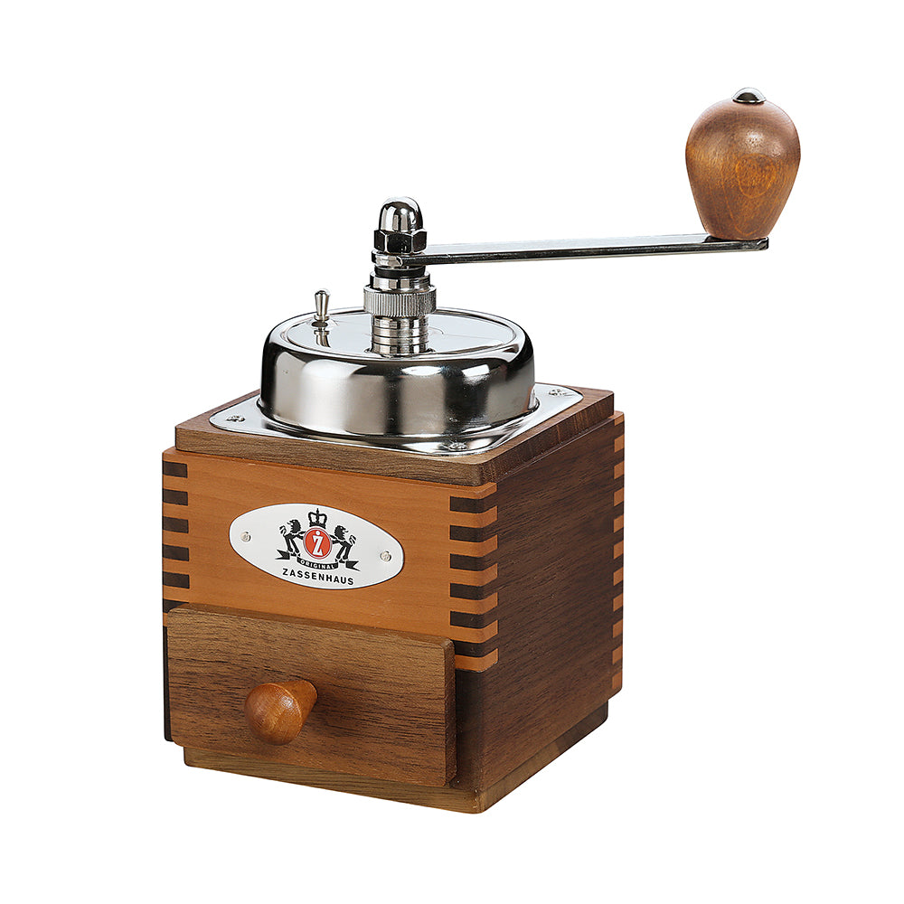 "Zassenhauscm Coffee Mill ""Montevideo"" 10cm Walnut/Pear"