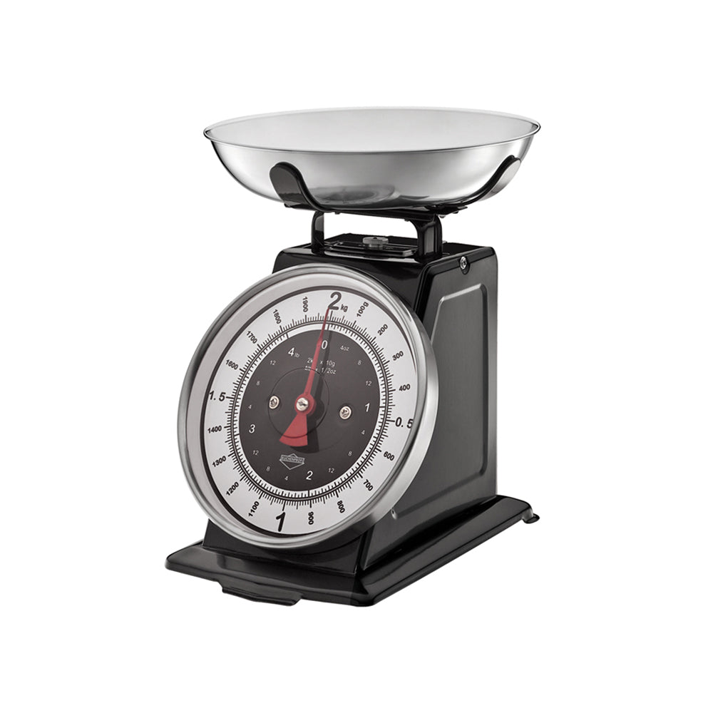 "Kchenprofi ""Practical Kitchen Utensils"" Nostalgie Kitchen Scales 21x20x25cm Black"