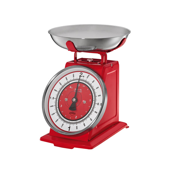Kuchenprofi Practical Kitchen UtensilsNostalgie Kitchen Scales 21x20x25cm Red