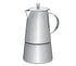 Cilio ModenaEspresso Maker, S/Steel Satin Finish w/Plane Bottom  10.5x21cm - 6 Cups