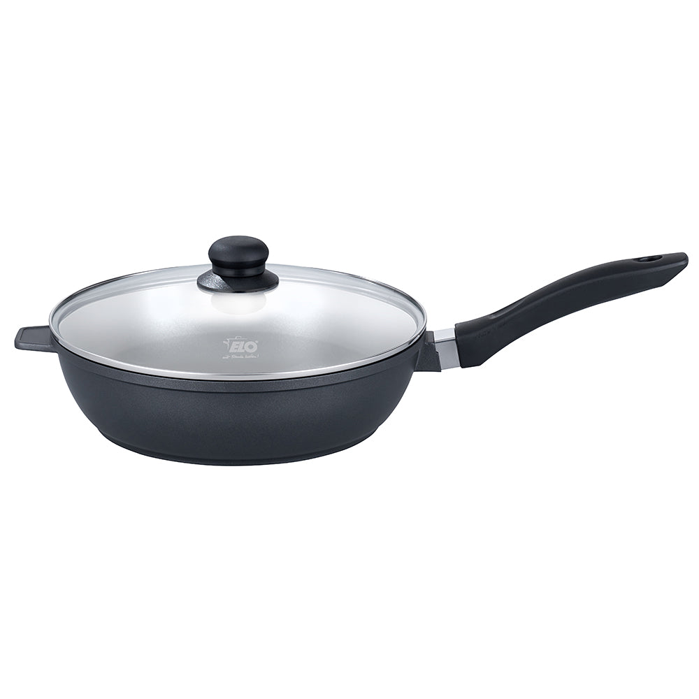 "Elo ""Pure Two"" Frypan Deep  Cast Aluminium w/Glass Lid  28cm"