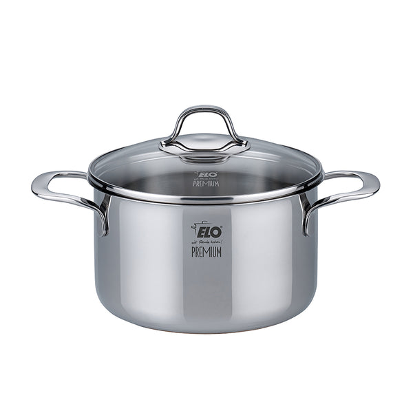 "Elo ""Silicano+"" Casserole High w/Glass Lid  20cm"