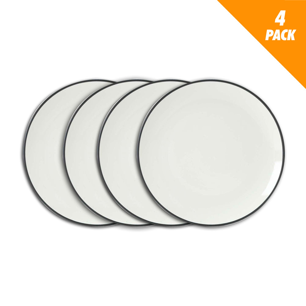 Noritake Colorwave Graphite Coupe Dinner Plate 4pcs (D)27cm