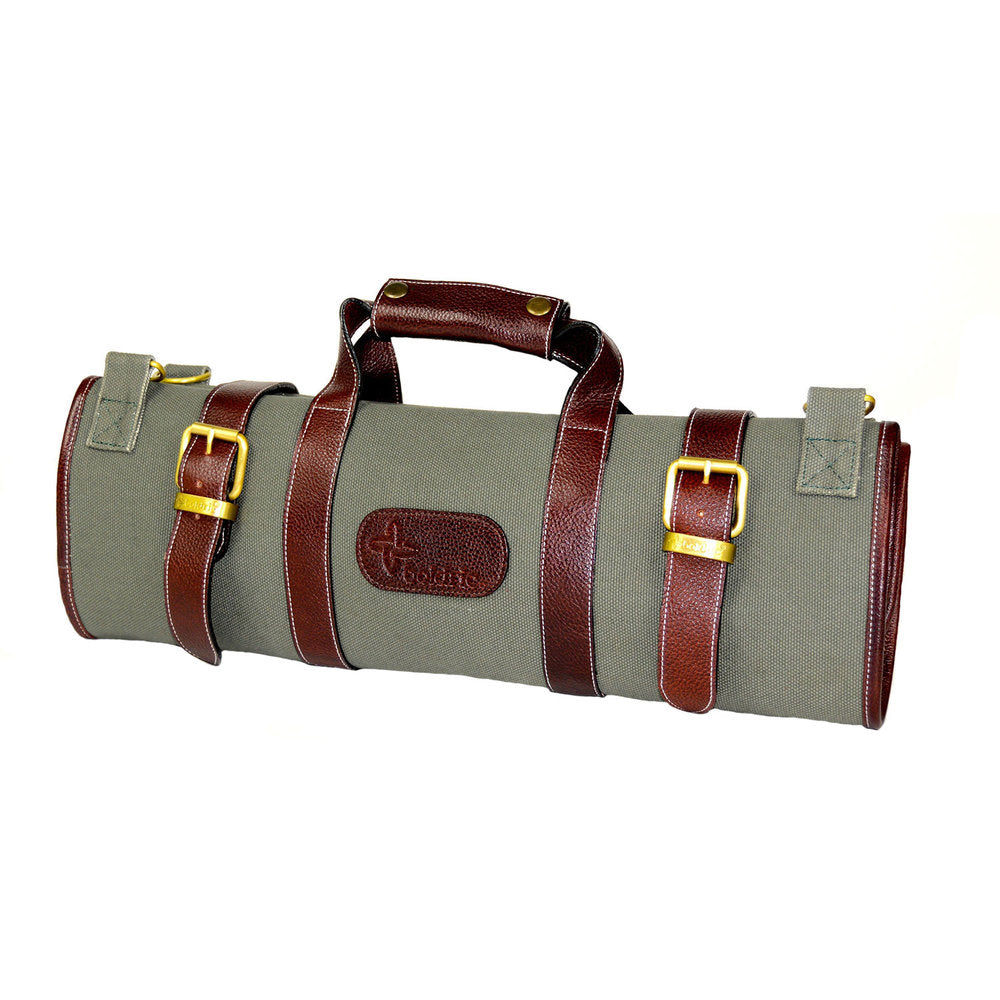 Boldric Canvas 17 Pocket Knife Bag, Green