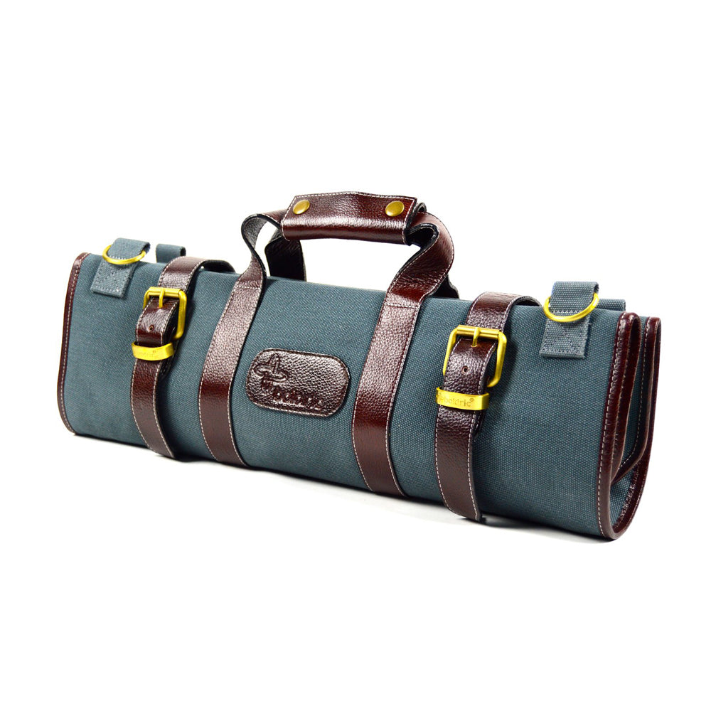 Boldric Canvas 17 Pocket Knife Bag, Abalone