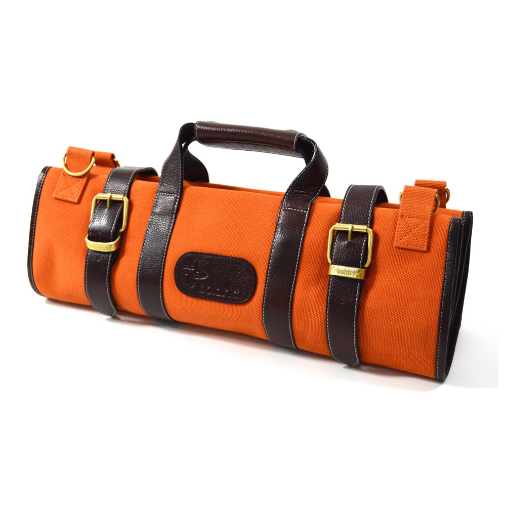 Boldric Canvas 17 Pocket Knife Bag, Orange