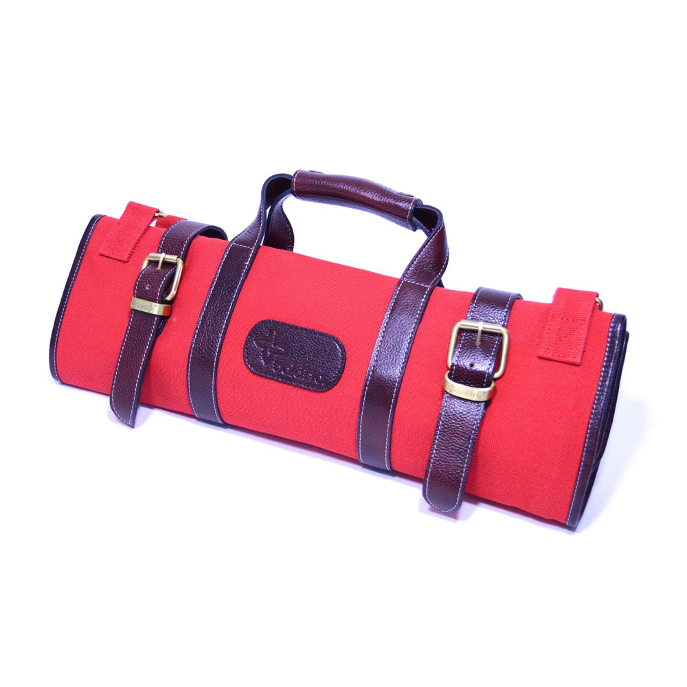 Boldric Canvas 17 Pocket Knife Bag, Red