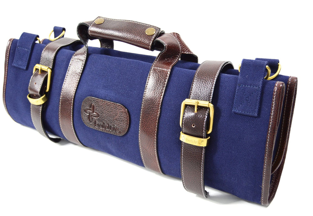 Boldric Canvas 17 Pocket Knife Bag, Navy