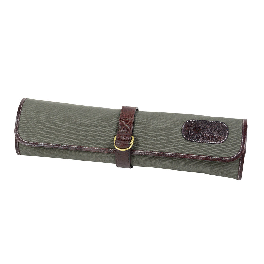 Boldric Canvas 7 Slot Tie Knife Bag, Green