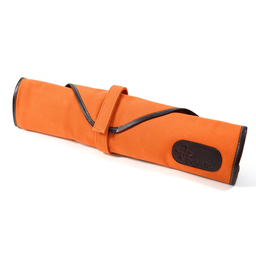 Boldric Canvas 6 Slot Knife Bag, Orange