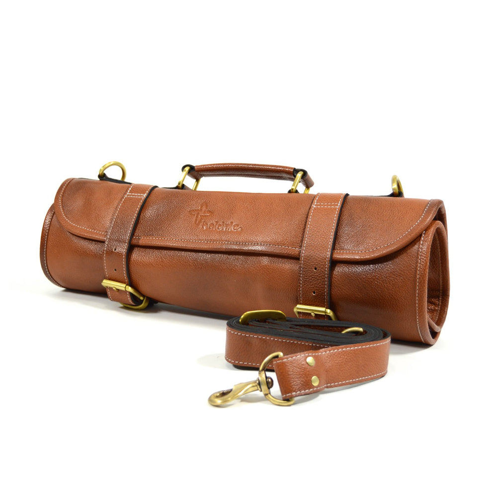 Boldric Leather Roll, Tan 9 Pocket Roll