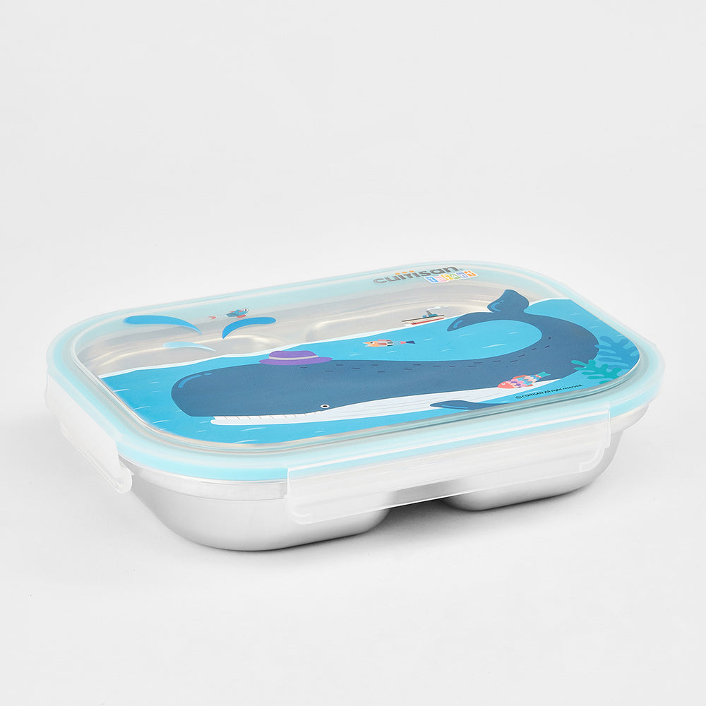 Cuitisan Infant 3 Compartment Food Tray 750ml Blue