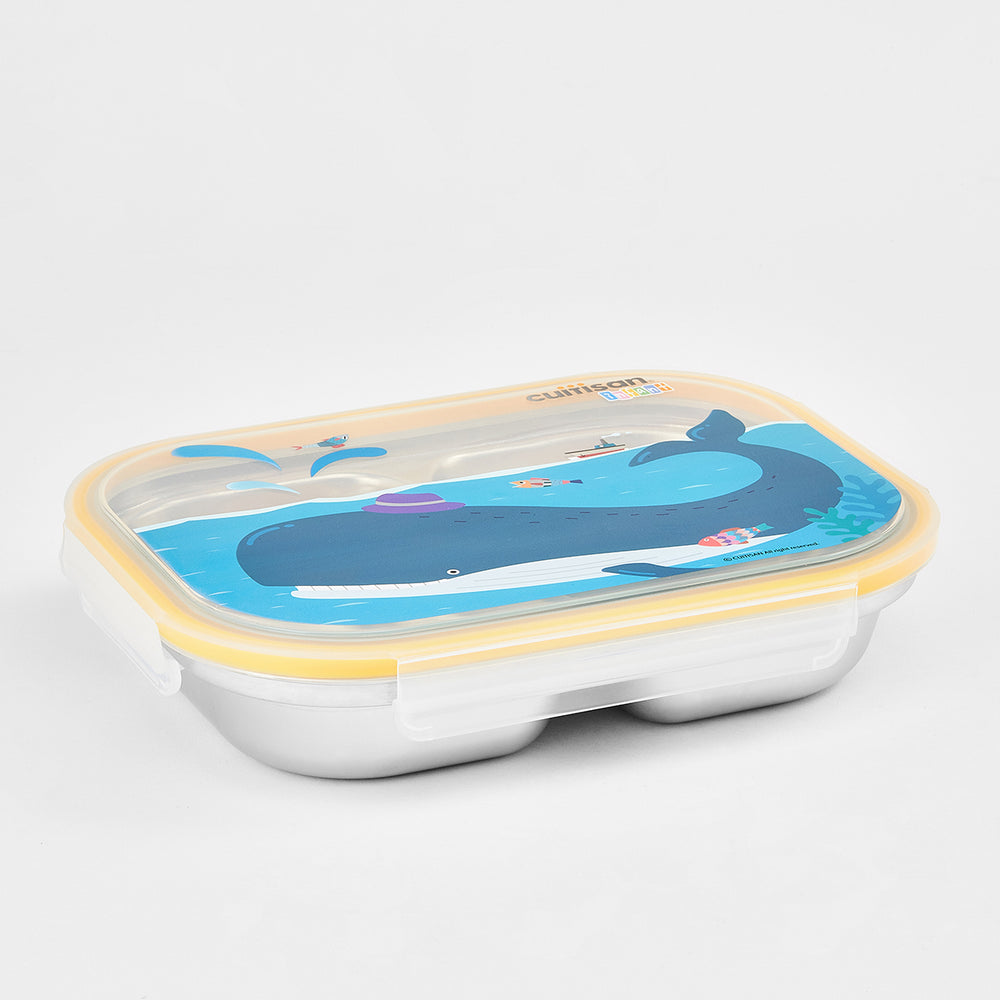 Cuitisan Infant 3 Compartment Food Tray 750ml Yellow