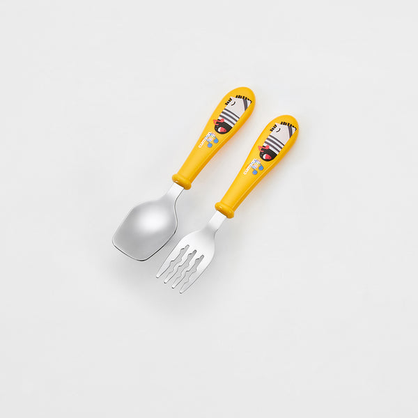 Cuitisan Infant Kid Spoon Fork Set Yellow