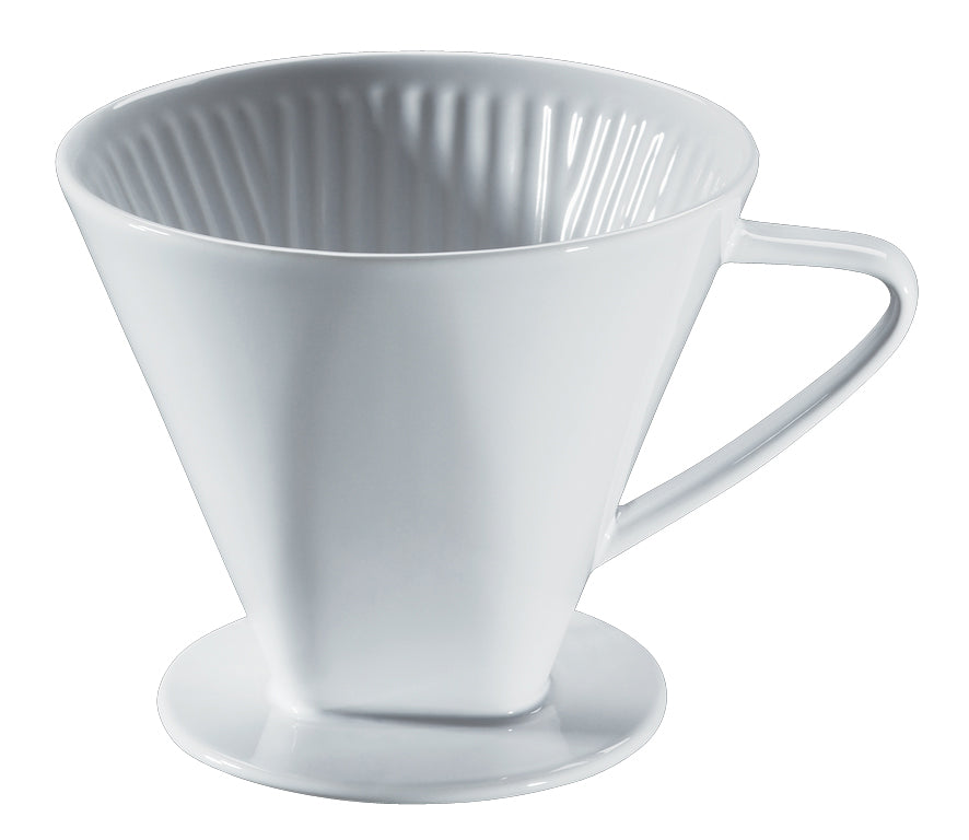 Cilio Coffee Filter Ceramic, White Suitable for Filter Paper Size 6 16x13.5