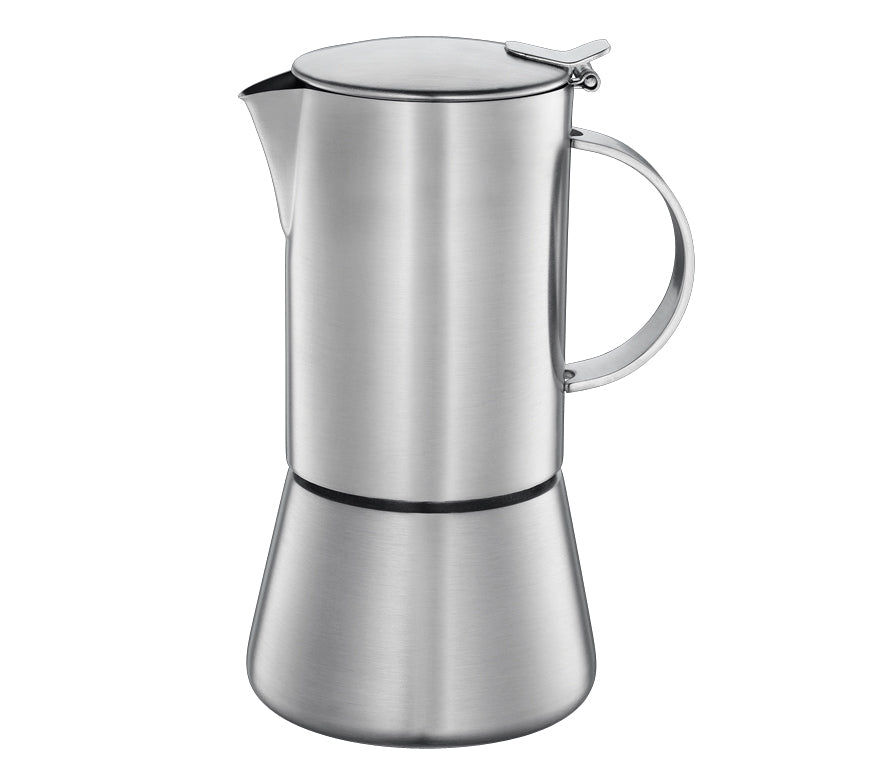 "Cilio ""Aida"" Espresso Maker, S/Steel Satin Finished w/Plane Bottom  9.5x17.5cm - 4 Cups"