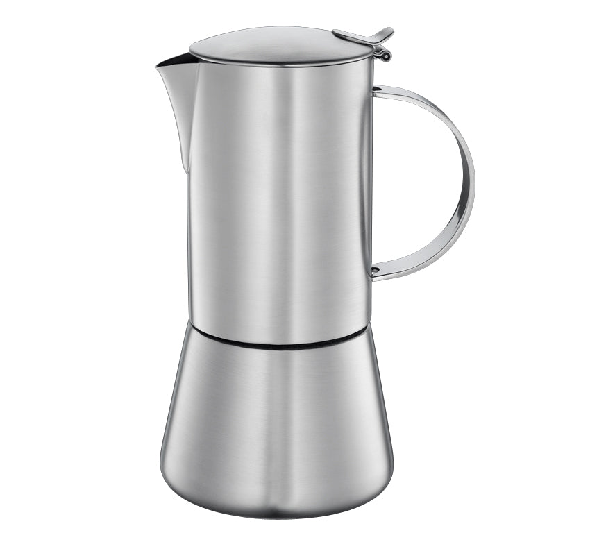 "Cilio ""Aida"" Espresso Maker, S/Steel Satin Finished w/Plane Bottom  10.5x20.5cm - 6 Cups"