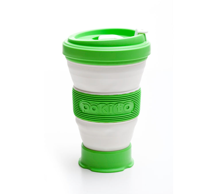 Evo Eco-Friendly Collapsible Cup Lime (Single)