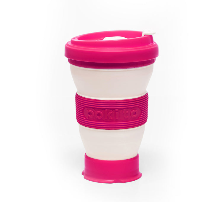 Evo Eco-Friendly Collapsible Cup Raspberry (Single)