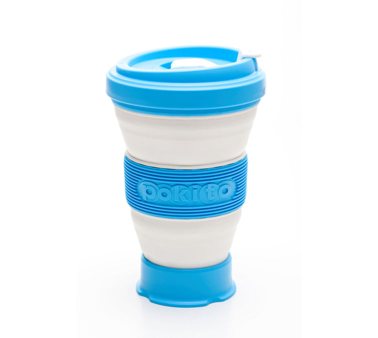 Evo Eco-Friendly Collapsible Cup Sky Blue (Single)