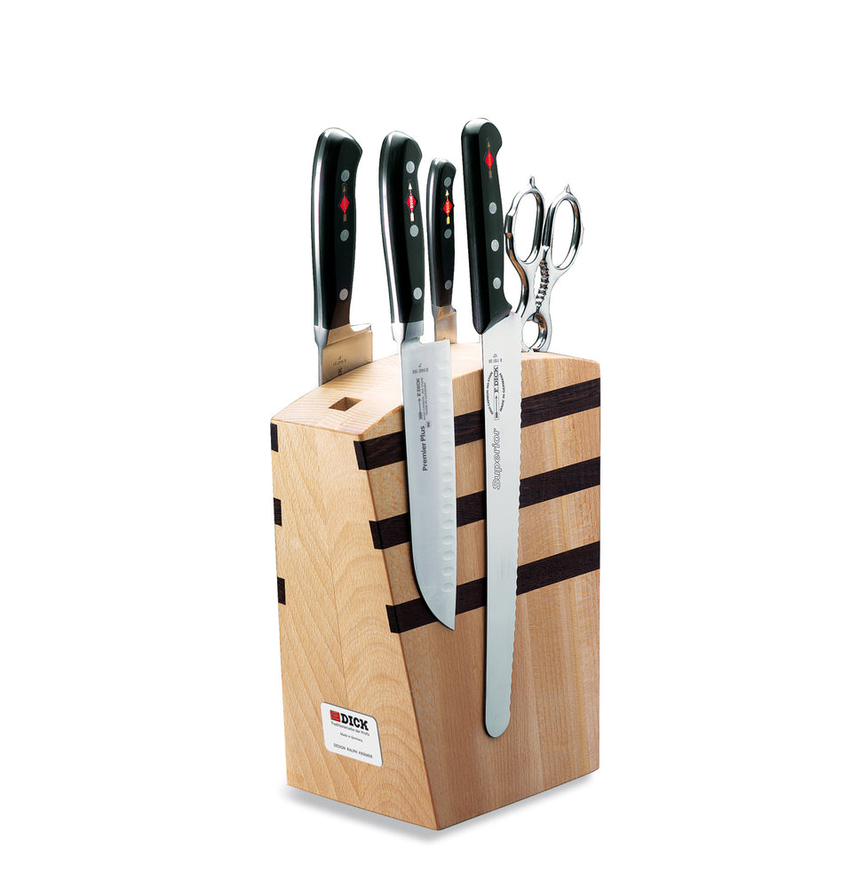 F.Dick Premier Plus Design Magnetic Knife Block, 5pcs