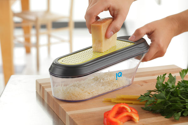KitchenIQ Container Grater (Assorted Cutters)