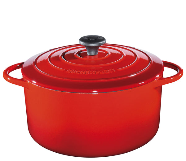 "Kchenprofi ""Provence"" Stewing Pot Round French Oven w/Lid  28cm Red"