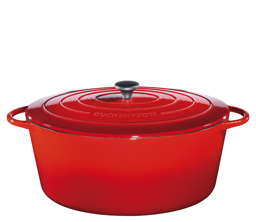 "Kuchenprofi ""Provence"" Stewing Pot Oval French Oven w/Lid  40cm Red"