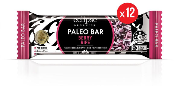 Eclipse Organic Paleo Bar Berry Ripe 12x45g