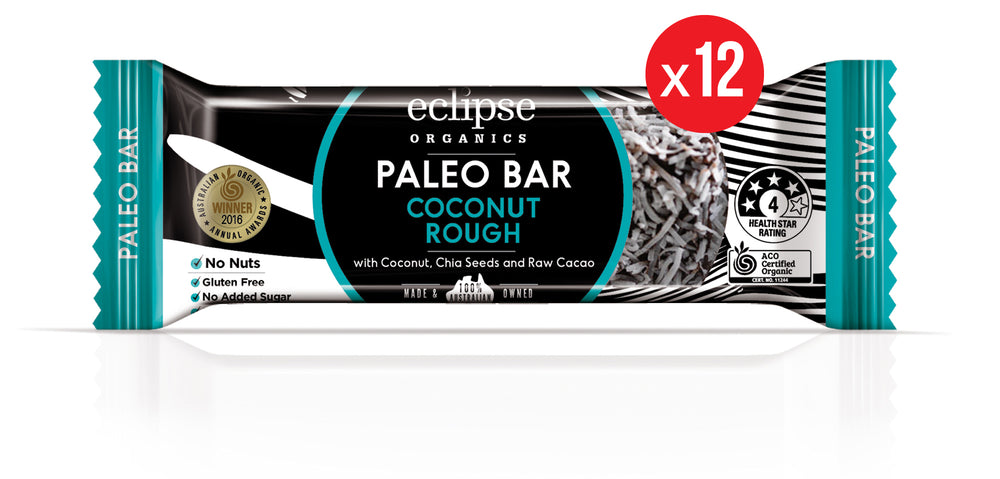 Eclipse Organic Paleo Bar Coconut Rough 12x45g