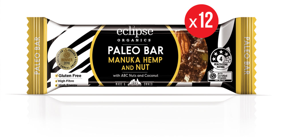 Eclipse Organic Paleo Bar Manuka and Nut 12x45g