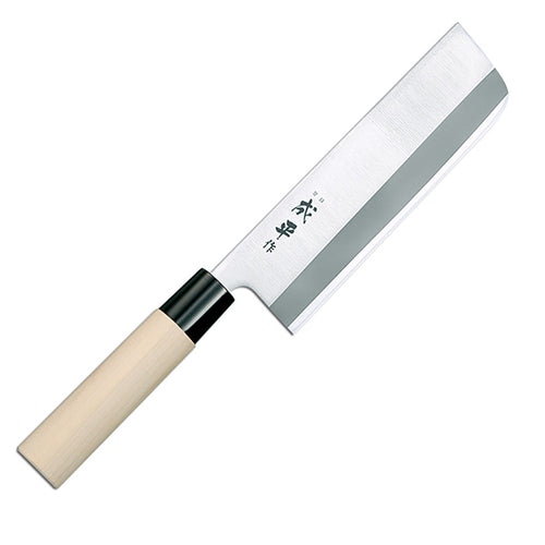 Tojiro Traditional Series Nakiri Chopper, Double Edge, 16cm