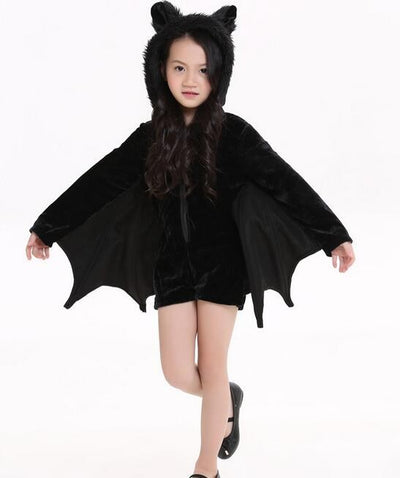 Cute Bat Kids Halloween Costumes Connect Wings Batman
