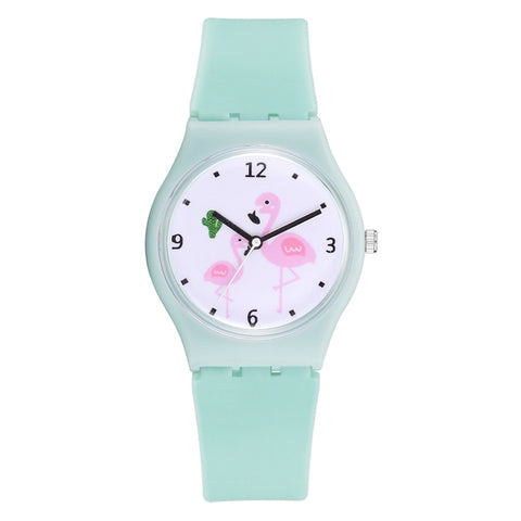 XR2926 Female Girl Heart Jelly Color Silicone Watch