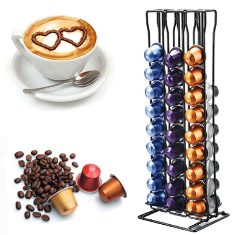 2019 New 60Pcs Coffee Capsules Display Storage Rack Holder Stand Dispenser For NESPRESSO Coffee Maker Home Kitchen Coffeware
