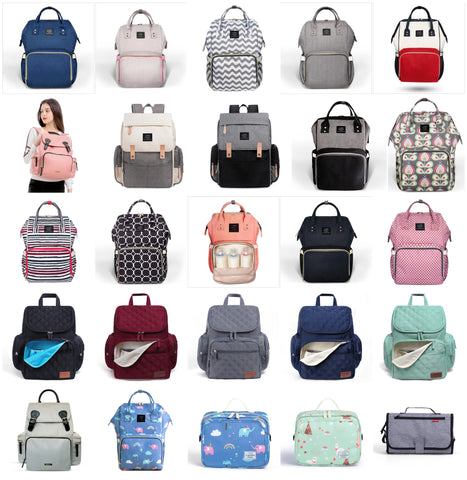 37f1e08f70 Authentic LAND Mommy Diaper Bags Mother Large Capacity Travel Nappy  Backpacks with anti-loss zipper