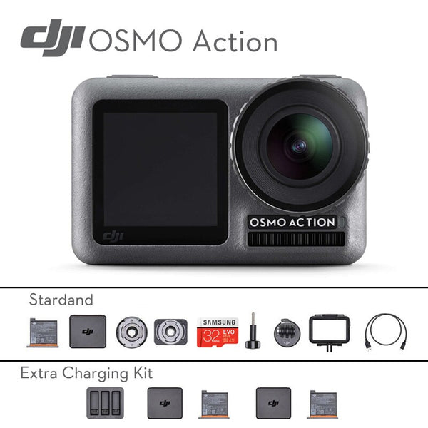 Original DJI Osmo Action professional Waterproof camera DJI Handheld Gimbal Dual Screens Camera with Osmo Action Charging Kit