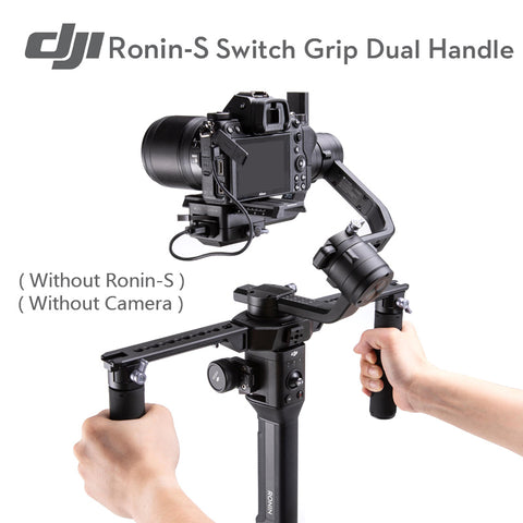 Ronin-S Switch Grip Dual Handle Gimbal Accessory for DJI Ronin S Essentials Kit/Standard Kit  adjustable handle positions