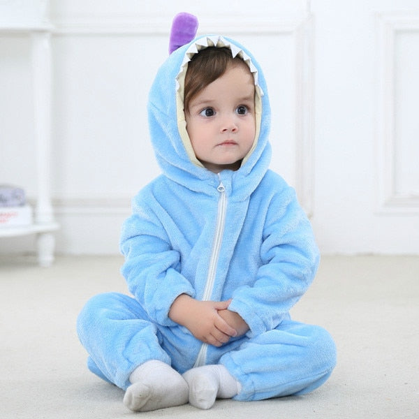 bd4676415 2019 Infant Romper Baby Boys Girls Jumpsuit New born Bebe Clothing Hooded  Toddler Baby Clothes Cute