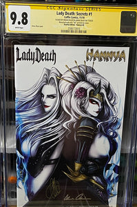 CGC 9.8 SS Lady Death: Secrets #1 Duality Edition Artist Proof (Hannya)